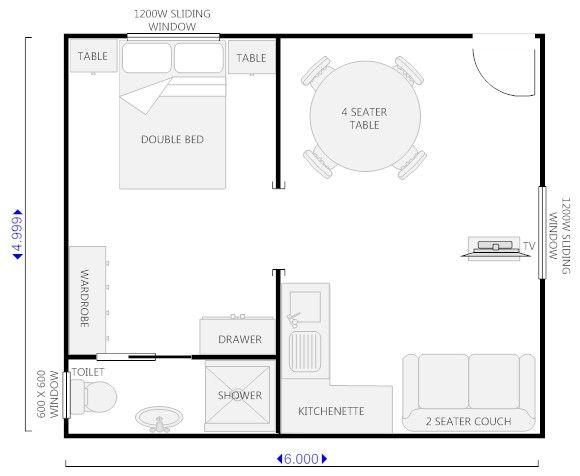 Floor Plan For Granny Flat X Google Search Granny Flat