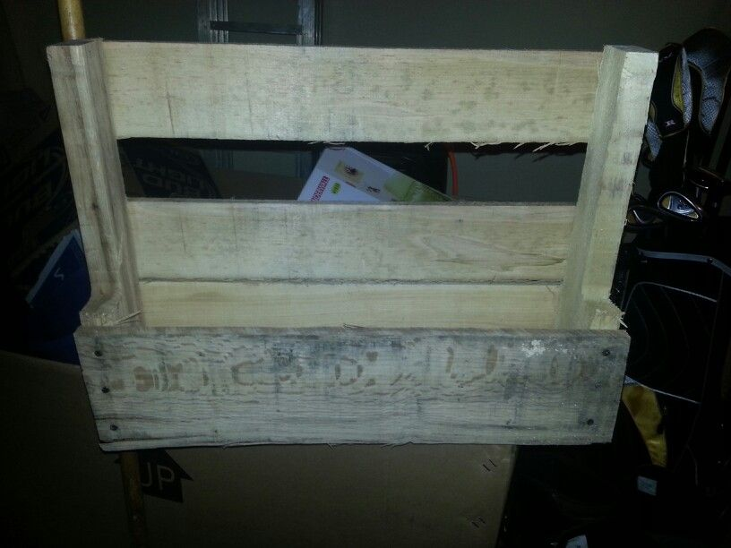 Our kitchen shelves made from a pallet...end result to come
