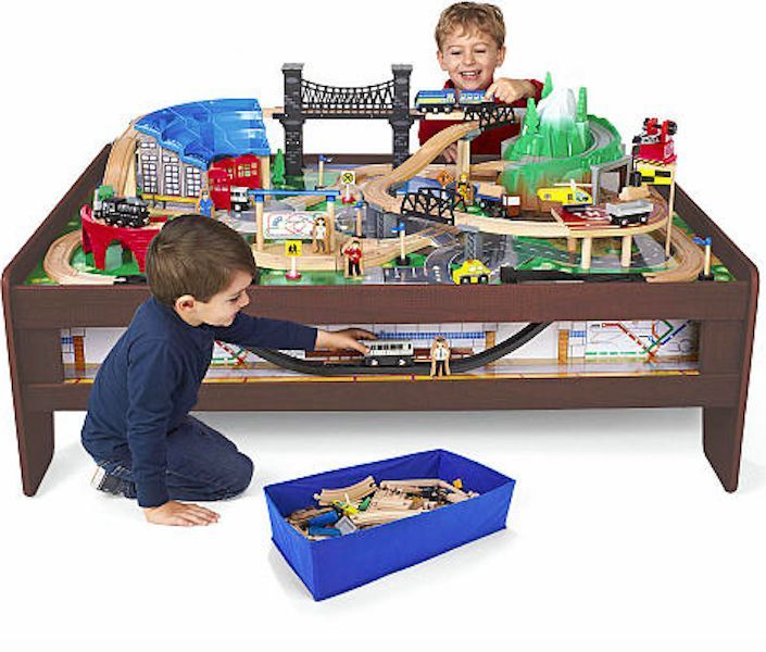 Awe Inspiring Imaginarium Wooden Train Track Table Thomas Friends Interior Design Ideas Apansoteloinfo