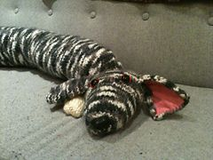 Ravelry: WolvesinLondon's Dog draught excluder
