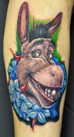 Mike Devries Tattoos Movie Donkey From Shrek Disney Tattoos Movie Tattoos Cute Tattoos