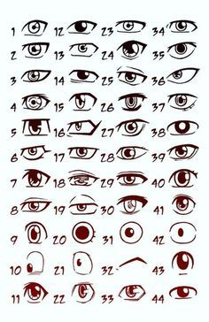 dessin manga yeux