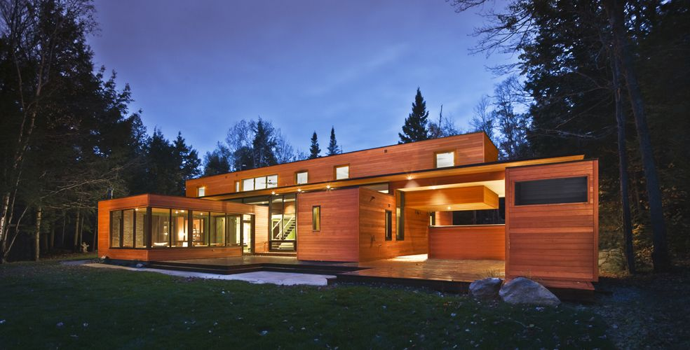 Red Cedar Exterior Cladding Modern House Design Maison 2