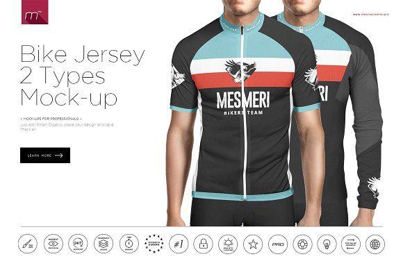 Download Bike Jersey 2 Types Mock-up by mesmeriseme.pro on ...