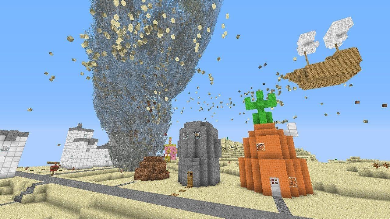 Minecraft tornado mod vs bikini bottom map spongebob minecraft tornado mod vs bikini bottom map spongebob squarepants map baditri Gallery