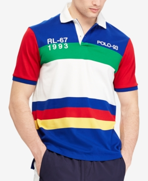 2c7a1c50 Polo Ralph Lauren Men's Cp-93 Classic-Fit Polo Shirt, Created for Macy's -  Blue XXL