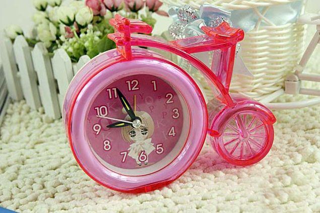 Creative Bicyle Style Plastic Alarm Clock