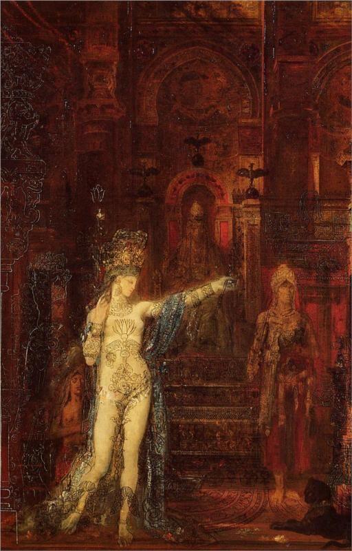 """Salome dancing before Herod"" - Artist: Gustave Moreau"