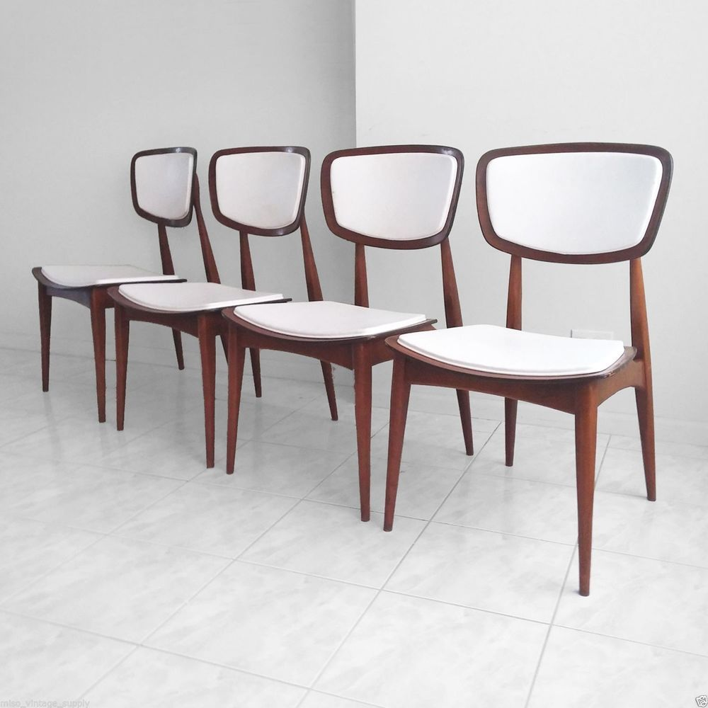 Danish modern walnut dining chairs - 4 Mid Century Danish Modern Walnut Bentwood Sculptural Dining Chairs Rare