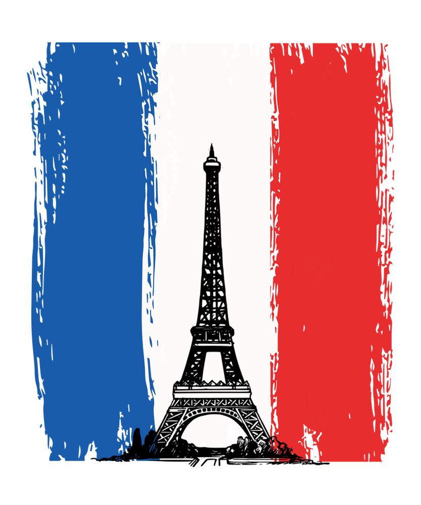 Paris Eiffel Tower French Flag France Design Art Print By Kayelex X Small In 2020 France Flag French Flag France Wallpaper