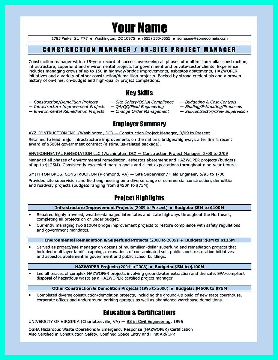 Simple Construction Superintendent Resume Example To Get Applied Resume Examples Resume Job Resume