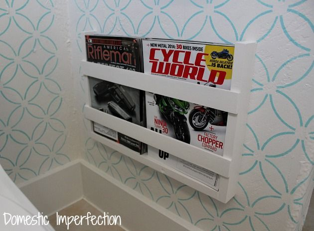 Diy Magazine Rack For Bathroom. I Have Another Bathroom Mini Project For You Today This On Is Easy Diy Magazine Holdermagazine