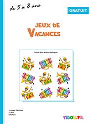 Cahier de jeux à imprimer ; 5 à 8 ans | Cahier de vacances gratuit, Cahier de vacances, Vacances ...