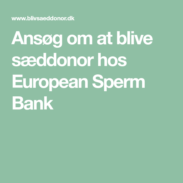 sæd donor kort