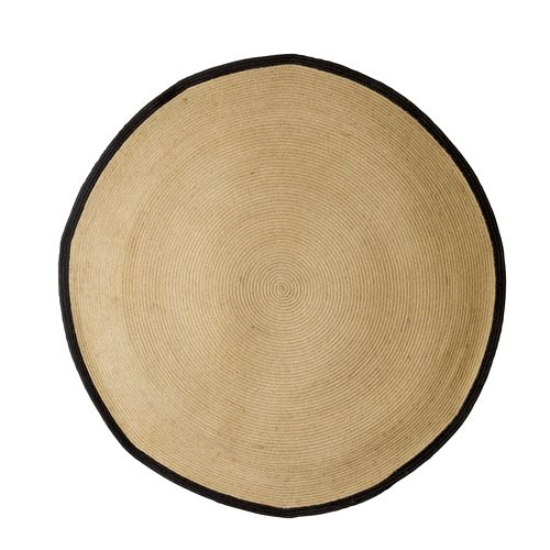 tapis rond en jute et liser noir bloomingville decoclico pd 0314 tapis tapis rond. Black Bedroom Furniture Sets. Home Design Ideas