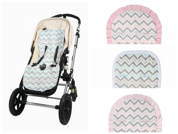 Universal Natural And Reversible Stroller Liner Pink