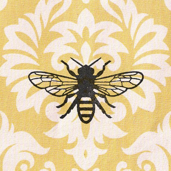 Bee Stamp: Wood Mounted Rubber Stamp | Bees, Stamps and Craft