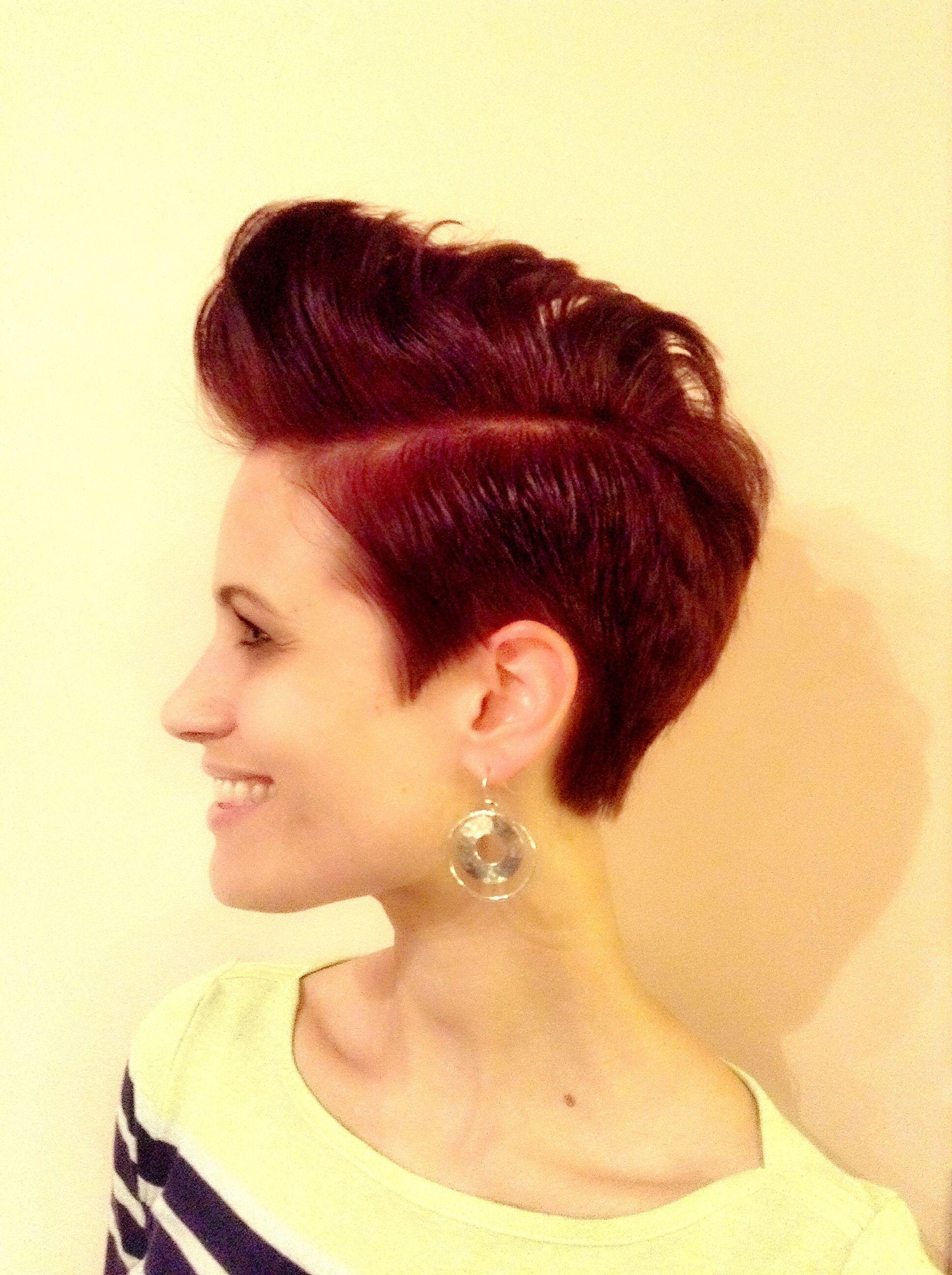 Pompadour, undercut   Hair by Dawn Gately   Pompadour hairstyle