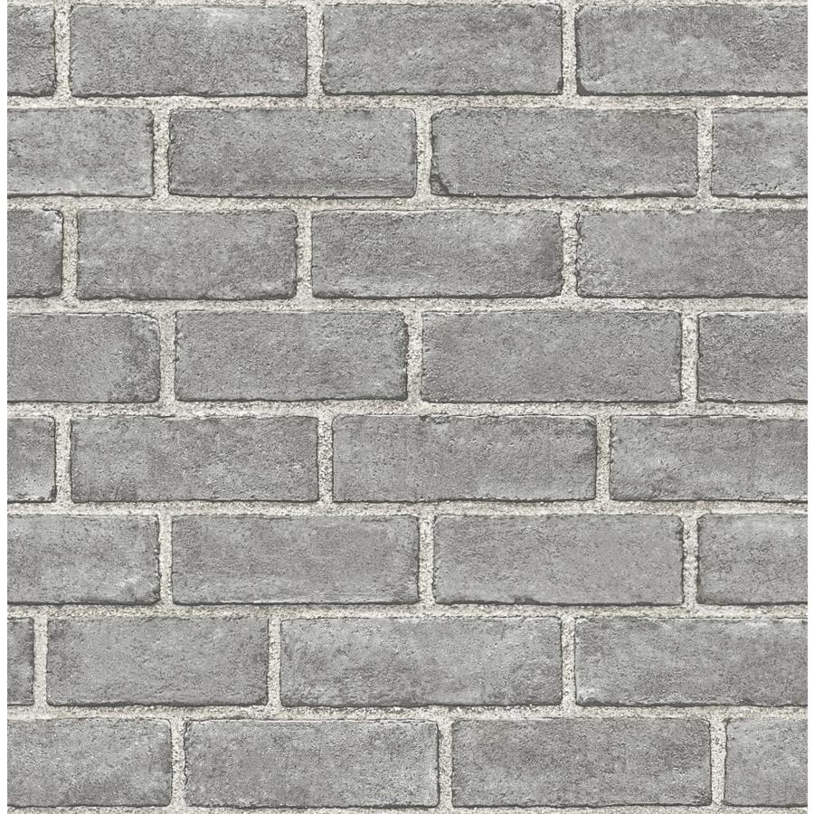Scott Living 30 75 Sq Ft Grey Vinyl Textured Brick 3d Self Adhesive Peel And Stick Wallpaper Lowes Com Peel And Stick Wallpaper Brick Wallpaper Lowes Brick Wallpaper