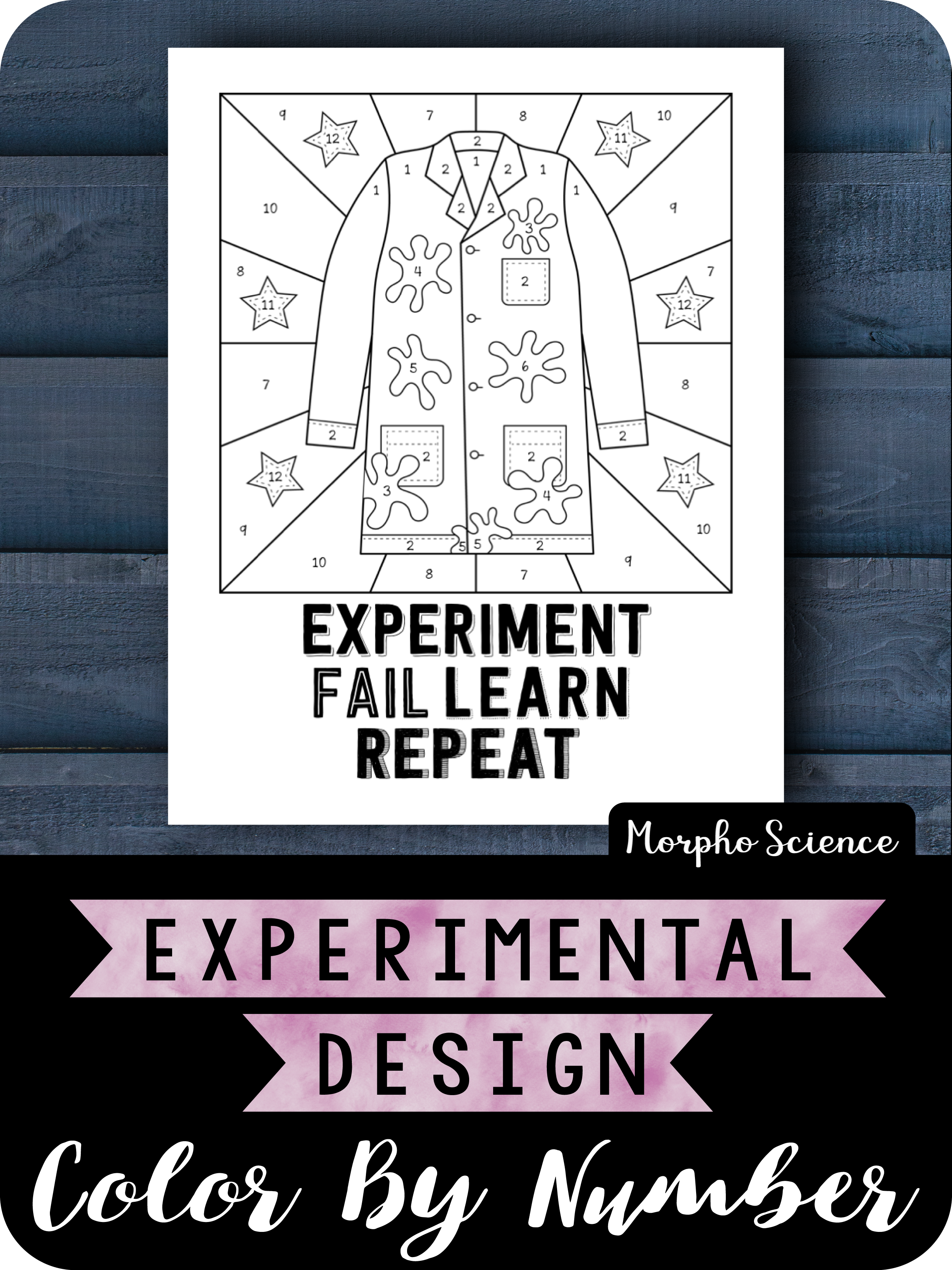 Experimental Design Color By Number Fun Worksheet Color Design Fun Worksheets Number Fun [ 3333 x 2500 Pixel ]