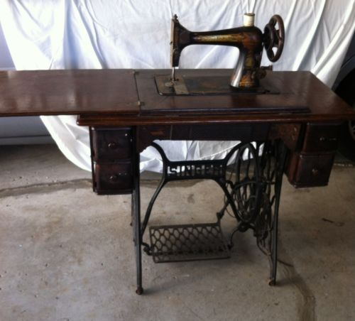 Singer Egyptian Sphinx Sewing Machine Antique Treadle Ornate Cast New Ebay Singer Sewing Machine