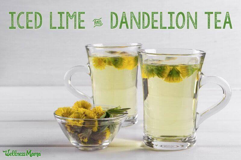 Dandelion Tea Recipe With Lime Wellness Mama Recipe In 2020 Dandelion Tea Dandelion Tea Recipe Herbal Drinks