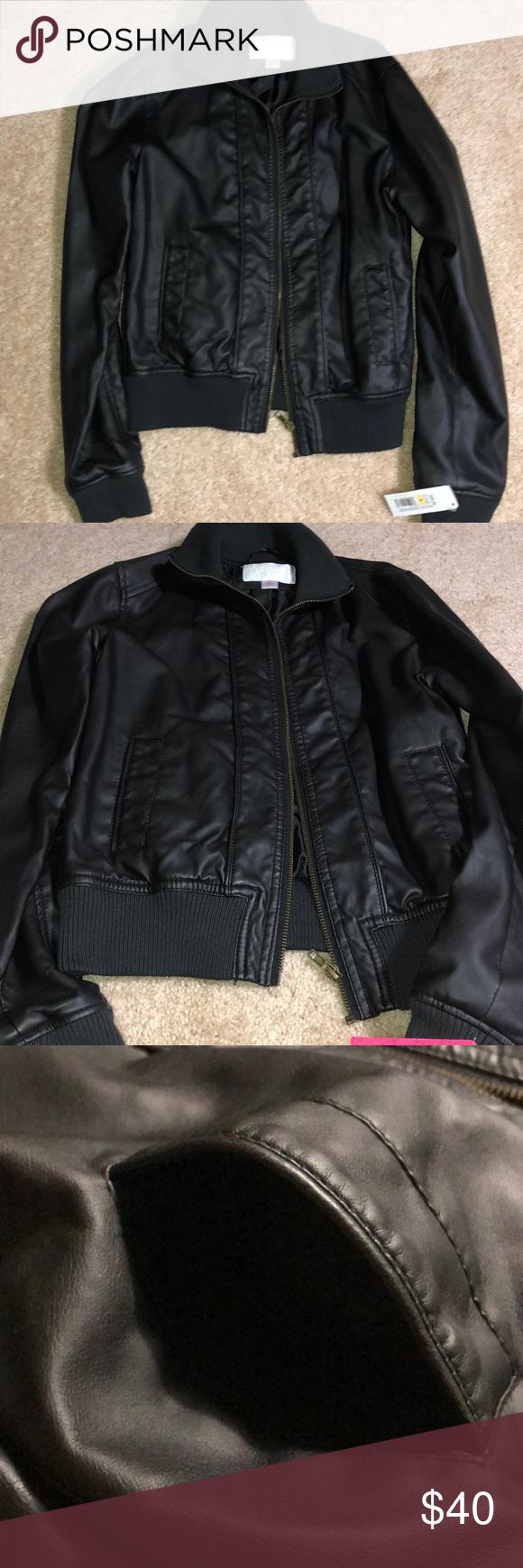 Xhilaration Faux Leather Bomber Jacket Nwt Faux Leather Bomber Jacket Leather Bomber Jacket Faux Leather Bomber [ png ]