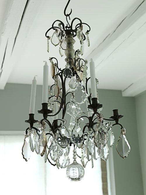 Love That Antique Chandelier From Modern Country Style Blog Summer Home Tour In Demark