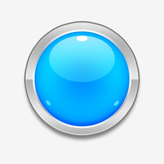 Blue Glossy Button, Button, Blue, Glossy PNG Transparent