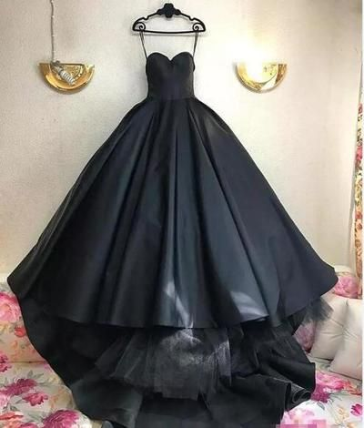 gothic black ball gown wedding dresses 2019 corset plus