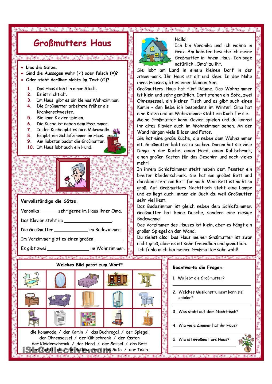 Großmutters Haus | Learn | Pinterest | Deutsch, Häuschen und Schule
