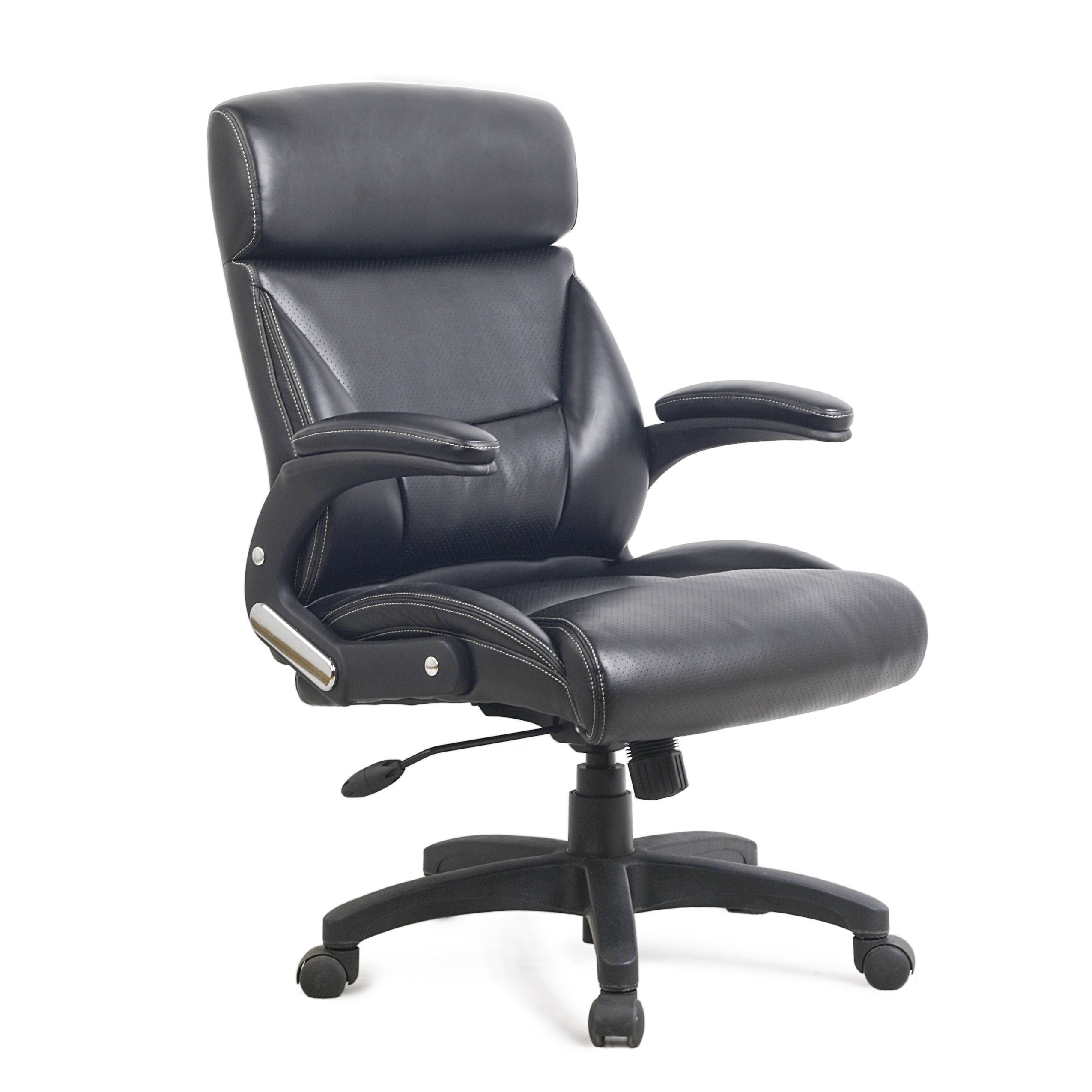 CorLiving Black Leatherette Managerial Office Chair