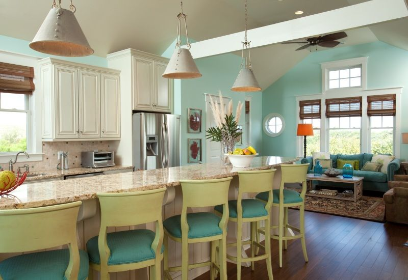 Experience Colorful Cooking In Bald Head Island North Carolina Kitchen Living Living Room Kitchen Kitchen Renovation