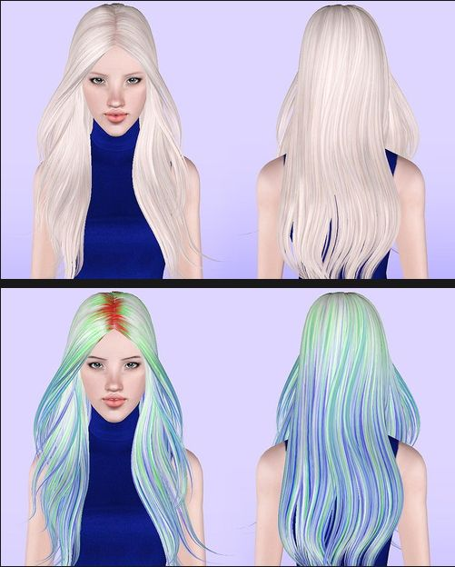 Skysims's 194 hairstyle retextured by Porcelain for Sims 3 - Sims Hairs - http://simshairs.com/skysimss-194-hairstyle-retextured-porcelain/