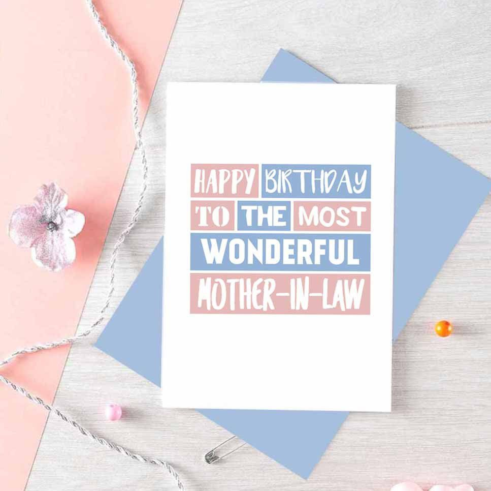Mother In Law Birthday Card Happy Birthday Mum In Law Card Mom