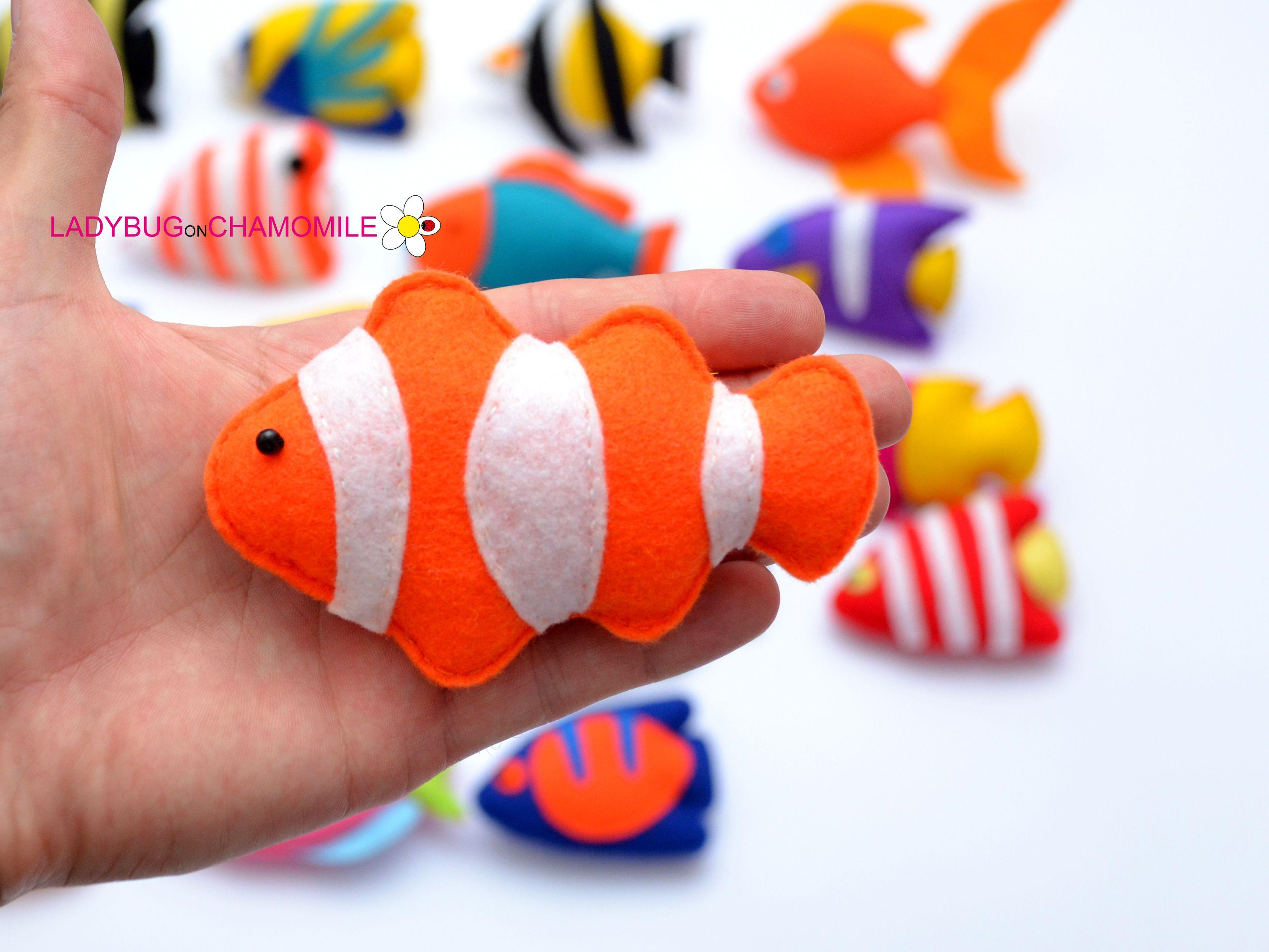 Clownfish | CUTE :) | Pinterest | Felting, Felt toys and Homemade crafts