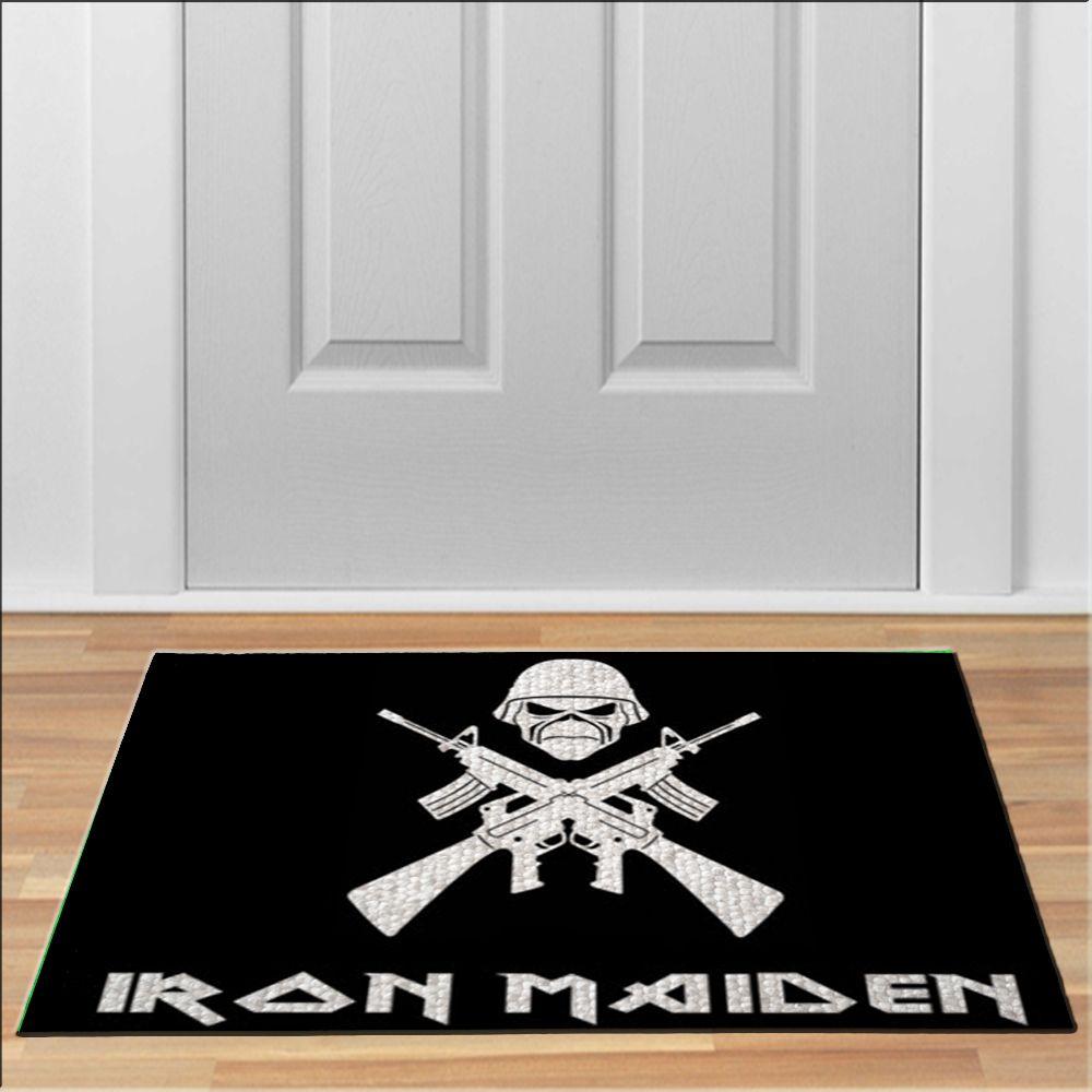 nice IRON MAIDEN TROOPER Floor Durable Door Mat Non-Slip   Unique ...