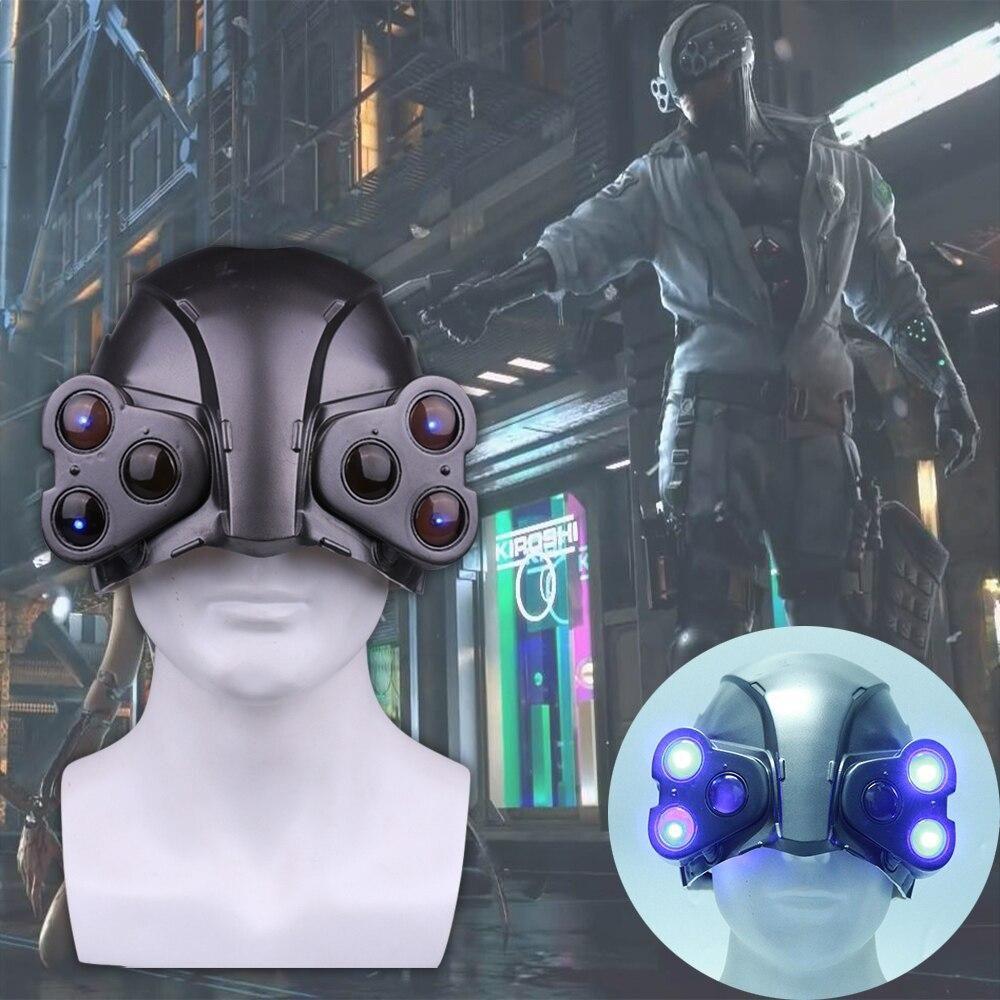 Cyber punk 2077 LED Helmet Cosplay Punk the Psycho Squad MAX-TAC Helmet LED Mask