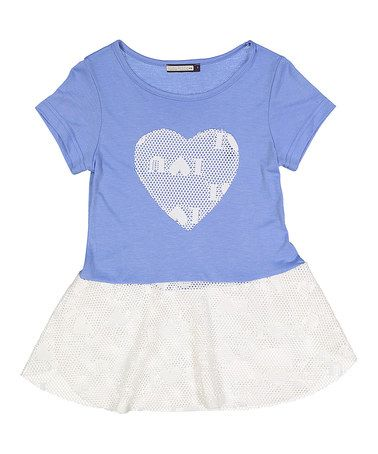 This White & Blue Heart Skirted Top - Kids & Tween is perfect! #zulilyfinds