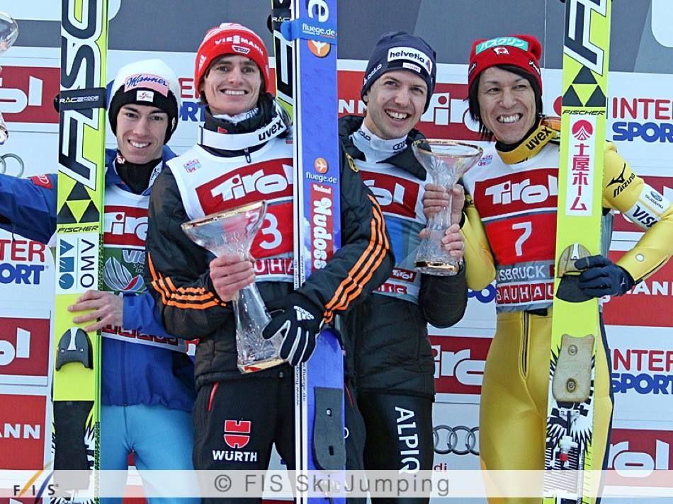 4 guys on the podium in Innsbruck today Richard Freitag
