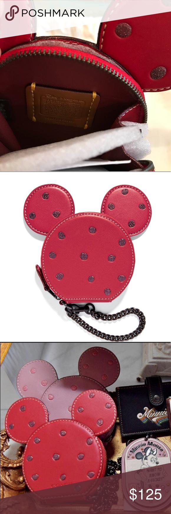detailed look 784f1 47713 NWT Disney x Coach 1941 Minnie Mouse Coin Purse This NWT coin purse ...