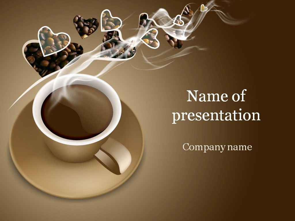 coffee powerpoint template g pinterest templates design and