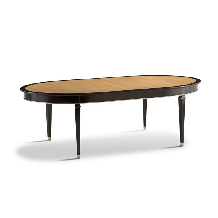 Dining table structure in solid beech Top in cherry wood veneer on