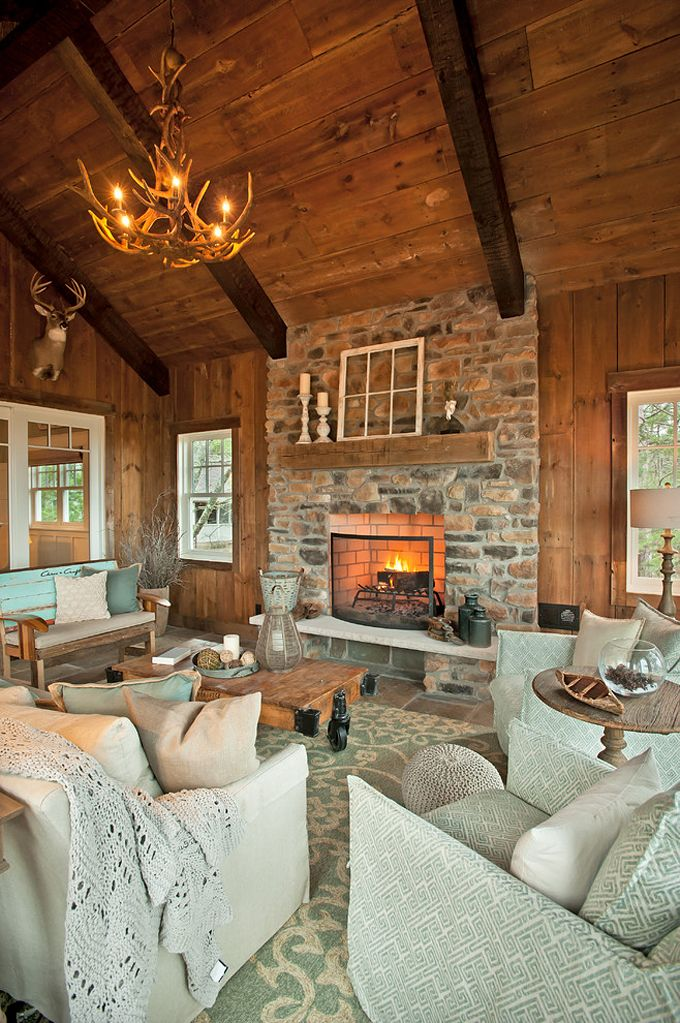 Kp Designs And Associates Lake House Interior Rustic Lake