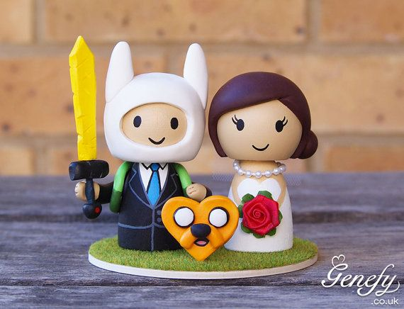 Cute cartoon comic wedding cake topper Bride by GenefyPlayground ...