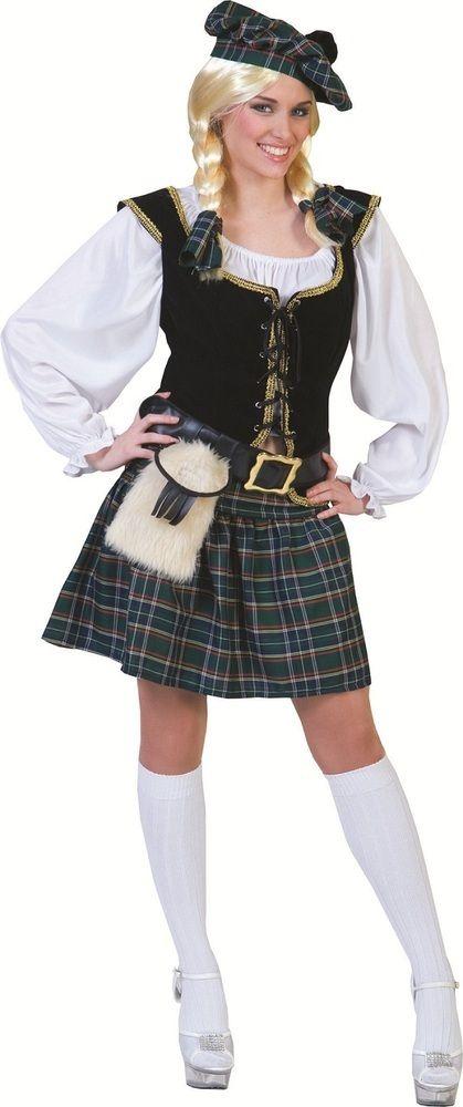Schottin Connora Kostüm | Dekollete, Schotten und Weiße bluse