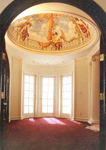 Classic murals ceiling decorations trompe l 39 oeil murals master bedr - Decoration trompe l oeil ...