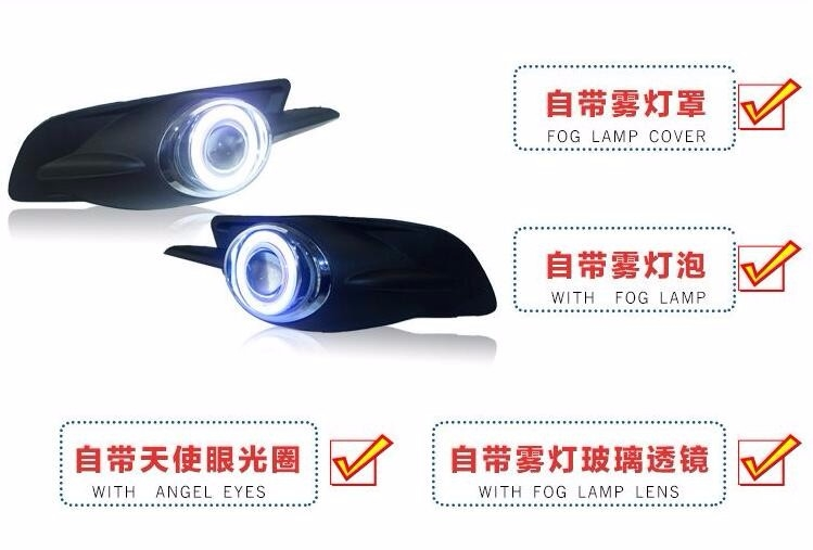 99.75$  Watch now - http://ali41t.worldwells.pw/go.php?t=32744437025 - eOsuns COB angel eye led daytime running light DRL + halogen Fog Light + Projector Lens for ford mondeo 2005 2006 2007 99.75$