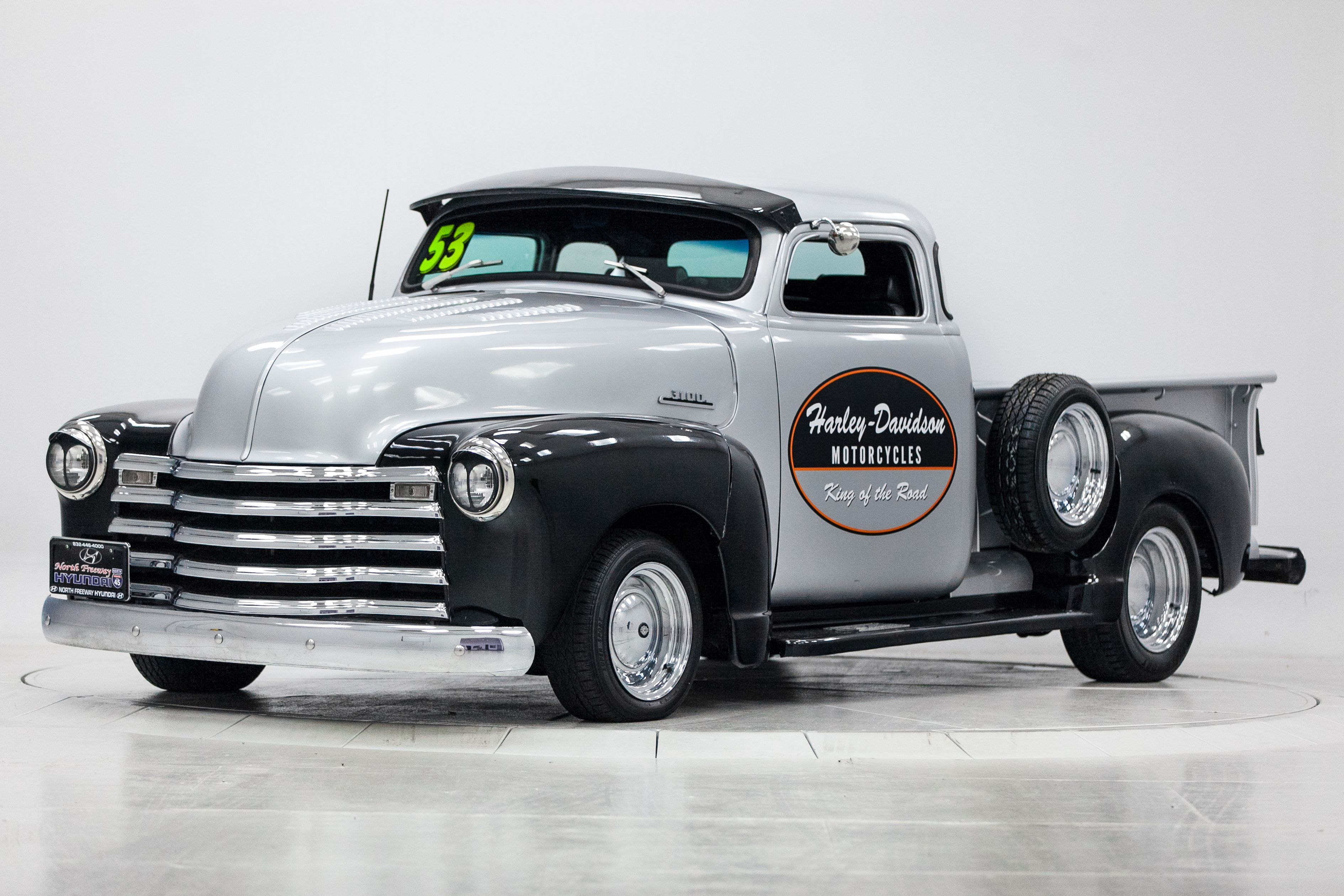 1953 Chevy We Made Into A Harley Davidson Truck