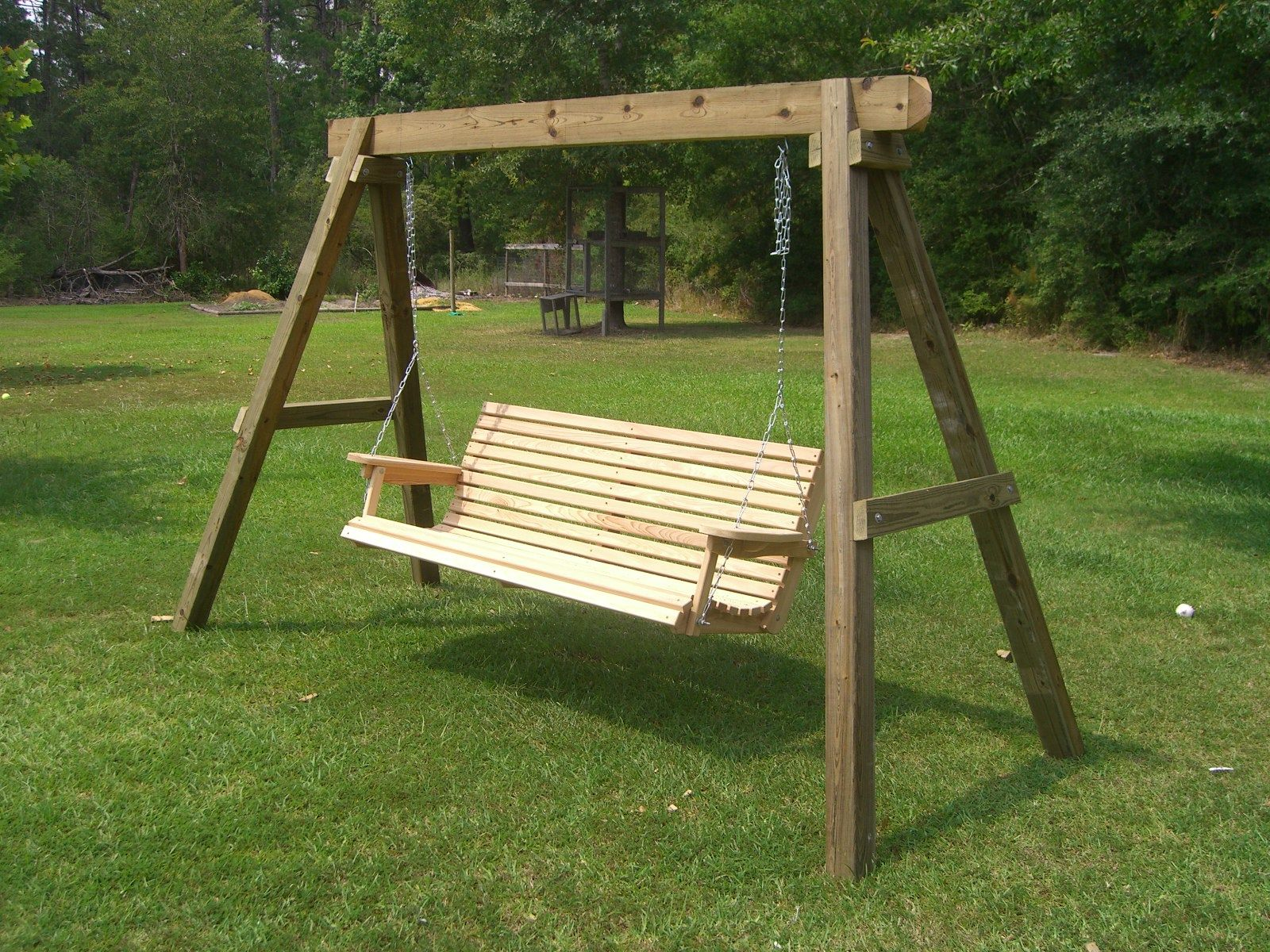 how to build swing stand Outdoor space Pinterest